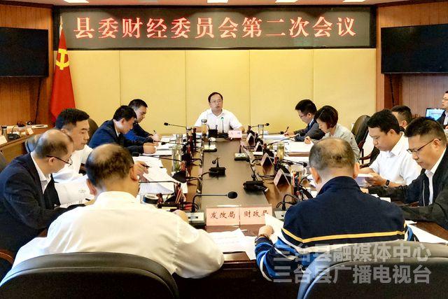 县委财经委员会召开2019年第二次